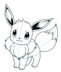 Drawing Eevee Pokemon Tutorial