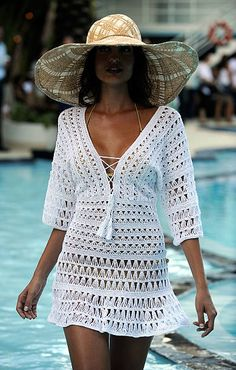 Crochet Beach Dress, Crochet Tunic, Diy Crochet, Crochet Clothes, Crochet Baby, Crochet Top, Crochet Box Stitch, Crochet Stitches For Beginners, Crochet Bikini Pattern