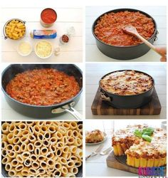 Recipe for rigatoni pasta pie - Best pasta recipes Rigatoni Pasta Pie, Penne, Stuffed Rigatoni, Baked Rigatoni, Pasta Cake, Creative Food, Creative Ideas, Diy Food, Pasta Dishes