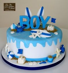 So cute! I want someone to have a boy so i can do this theme for them! ;) beach baby shower boy