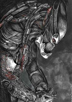 Predator Art, Predator Movie, Alien Concept Art, Alien Art, Alien Convenant, Aliens Movie, Xenomorph, Monster Art, Berserk