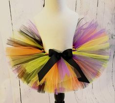 Your place to buy and sell all things handmade Halloween Tutu Costumes, Halloween Party, Ribbon Tutu, Grosgrain Ribbon, Green Tutu, Black Tutu, Unique Gifts, Handmade Gifts, Toddler Tutu