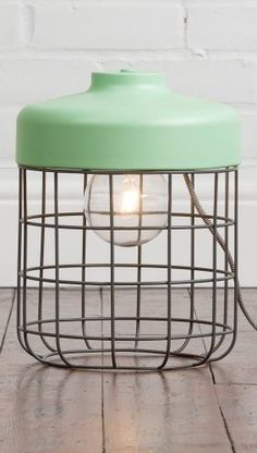 The Arthur Floor Lamp in Mint. A softer take on the industrial look. £39 | MADE.COM