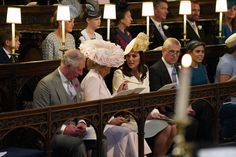 Kate Middleton Photos - (L-R) Prince Charles, Prince of Wales, Camilla, Duchess of Cornwall, Catherine, Duchess of Cambridge, Prince Andrew, Duke of York and Princess Beatrice attend the wedding of Prince Harry and Meghan Markle in St George's Chapel at Windsor Castle on May 19, 2018 in Windsor, England. - Prince Harry Marries Ms. Meghan Markle - Windsor Castle