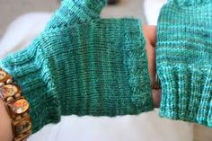 Knitted Finished Object:  gloves