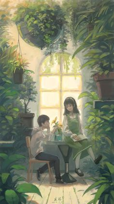 Kai Fine Art is an art website, shows painting and illustration works all over the world. Cute Pastel Wallpaper, Anime Scenery Wallpaper, Anime Couples Drawings, Cute Anime Couples, Pretty Art, Cute Art, Aesthetic Art, Aesthetic Anime, Casa Anime