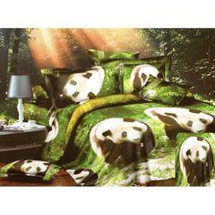 Zelené posteľné obliečky s pandami Panda, Painting, Fictional Characters, Blankets, Bedding, Linens, Painting Art, Bed Linens, Paint