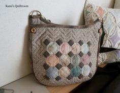 옥타곤 크로스백... : 네이버 블로그 Japanese Bag, Key Covers, Louis Vuitton Damier, Quilt Patterns, Diaper Bag, Coin Purse, Quilts, Wallet, Sewing