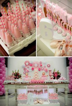 Pink Ballerina Party with Lots of Really Cute Ideas via Kara's Party Ideas