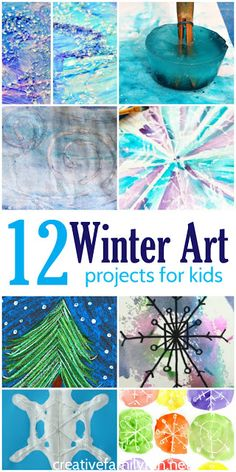 12 of the Best Winter Art Projects for Kids. 12 of the Best Winter Art Projects for Kids. Winter Art Projects, Winter Project, Cool Art Projects, Projects For Kids, Winter Activities For Kids, Winter Crafts For Kids, Winter Fun, Art For Kids, Preschool Winter