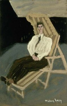 The man with green pants   Milton Avery
