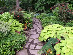 Shady garden path