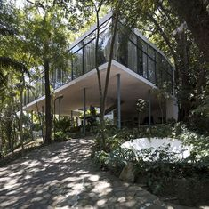 Casa de Vidro in Morumbi, São Paulo (1950)   This selection of photographs was part of the exhibition <b>Lina and Gio: The Last Humanists</b> at The Architectural Association, London 2012<br><br...