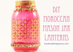 DIY Moroccan Lanterns with Mod Podge Sheer Colors and Glitter Stencils