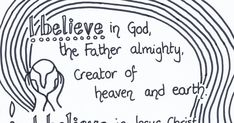 Colouring is a really good way to help children to take time to sit and reflect. It also provides a great opportunity for us to chat informa. Apostles Creed, Worship Ideas, Colouring Sheets, Religious Education, Creative Kids, Sunday School, Opportunity, Reflection, Words