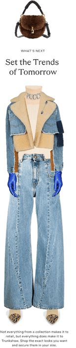 Denim Outfit | ShopLook Nye Outfits, New Years Eve Outfits, Outfit Maker, Denim Outfit, Bell Bottom Jeans, Street Style, Polyvore Outfits, Pants, How To Wear