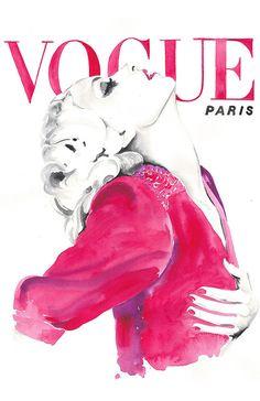 Vogue Cover Art Watercolor Vogue Watercolour by silverridgestudio