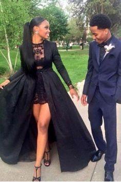 Long Sleeve prom dress, Sexy prom dress, Black prom dress, prom dresses 2018