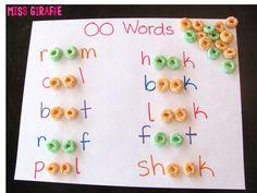 Free oo words worksheet | Froot loops and Word free