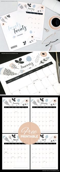 {free printables} 2020 Calendars - office organization at work Free Calendar Download, Free Calender, Printable December Calendar, Monthly Planner Printable, Print Calendar, Printable Calendar Template, Kids Calendar, Calendar Pages, Caro Diario