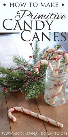 24 Primitive Coffee Stained Chenille Candy Canes Christmas Ornaments Farmhouse