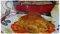 Te invito a mi cocina: Tortilla de patata guisada al estilo leones https://sarividarural.blogspot.com.es/2017/02/tortilla-de-patata-guisada-al-estilo.html