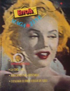 "Errol's Magazine - December 1989, magazine from Chile. Front cover photo of Marilyn Monroe in a scene from ""Niagara"", 1953."