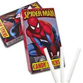 spiderman candy sticks - party bags Party Bags, 7th Birthday, Childhood Memories, Sticks, Spiderman, 90s Nostalgia, Candy, Food, Spider Man