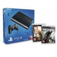 CONSOLA PS3 500GB P + WATCH DOGS + THE LAST OF US