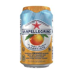 San Pellegrino Sparkling Fruit Beverages, Aranciata/Orange 11.15-ounce cans (Total of 24) *** More info could be found at the image url.