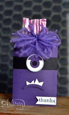 Mercedes Weber- Stampin Up Artisan Wednesday Wow Blog Hop -Purple Minion Punch Art