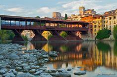 Bassano del Grappa,Wood bridge Italy