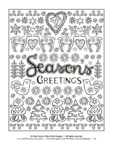 Free 92 Page Holiday Coloring Book!
