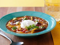 Why-the-Chicken-Crossed-the-Road Santa Fe-Tastic Tortilla Soup recipe from Rachael Ray via Food Network