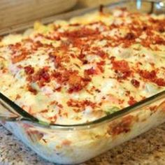 Chicken Bacon Ranch Pizza Casserole Recipe - ZipList now that looks really good definitely making that when we are married Sara Horstman