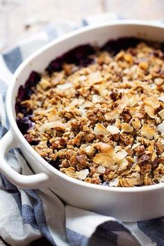 This tasty oat and pecan blueberry crisp is packed with fiber.