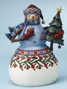 JIM SHORE SNOWMAN W/ TREE FIGURINE  MFG: .MFG Part Number:         Selected accessories will also be added to cart      $49.95