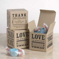 These sweet favor boxes are a fun addition to a #bridalshower! #DavidsBridal