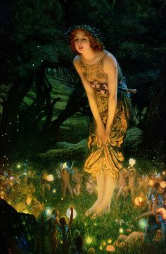 Midsummer Eve by Hughes Canvas Print