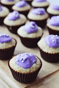 Lavender and Vanilla Cupcakes  - CountryLiving.com