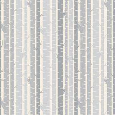 Woodland Birch and Twig fabric by googoodoll on Spoonflower - custom fabric