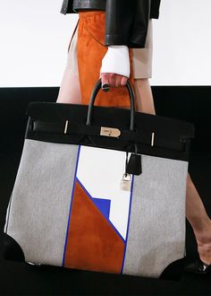 …chop it up… edgeofacataclysm:  Handbag at Hermes Spring Summer 2013