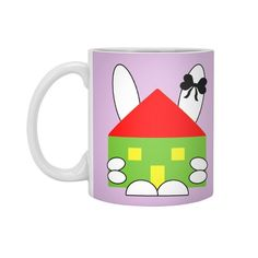 The rabbit hugged house and the rabbit  keeps the house. #rabbit #easter #house #hug #keepcalm #holiday #accessorios #accessories #homedecor #home #homeoffice #interiordesign #drink #mugs #coffee #purple