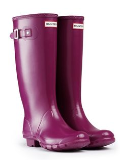 Huntress Gloss Wider Calf Rain Boots...since my calves are half an inch too wide for the Original style and they would come halfway up my knees anyway.