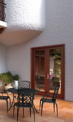 These Patio Doors Stand Out From The Walls With Striking Cinnamon Color Come And