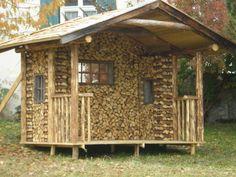 So nett kann man Brennholz stapeln