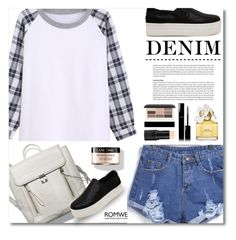 """""""60 Second Style :  Short Denim"""" by defivirdavp ❤ liked on Polyvore featuring Lancôme, Marc Jacobs, Chanel and H&M"""