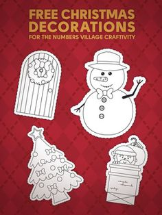 FREE Christmas decorations for your House craftivity!