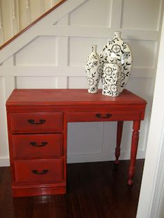 Impatiently Praying for Patience: A red desk