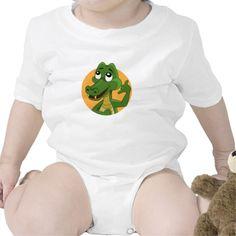 Alligator cartoon Infant Creeper
